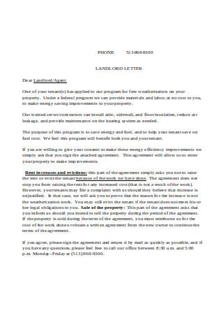 Landlord Letter Sample