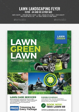 Landscaping and Lawn Care Flyer