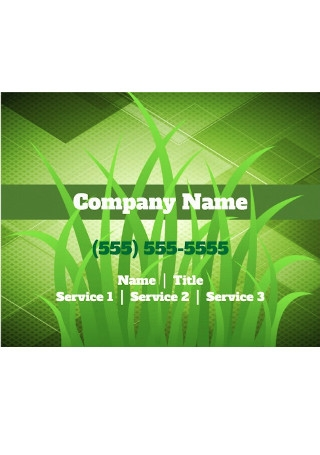 Lawn Care Gardening Landscaping Flyer