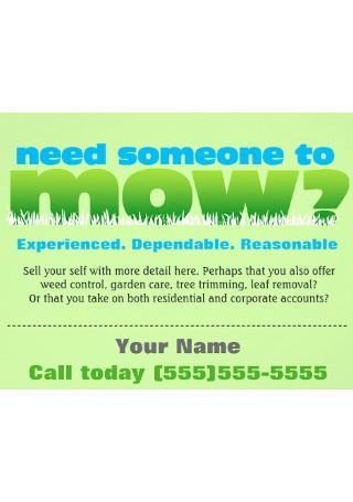 Lawn Care Grass Landscaper Flyer