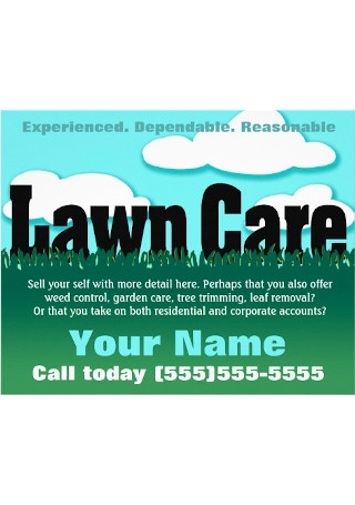 Lawn Care Marketing flyer