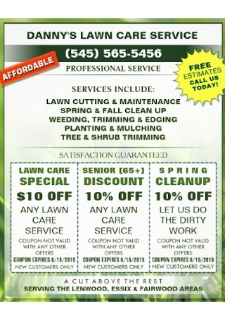 Lawn Care Promotion Business Flyer