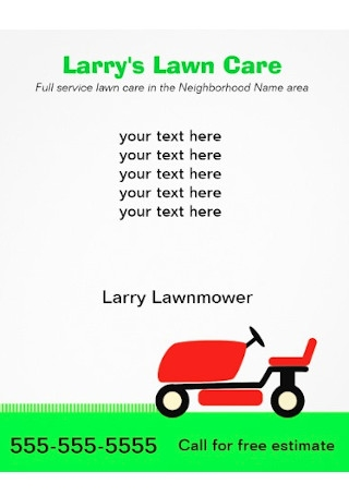 Lawn Care Services Flyer Sample