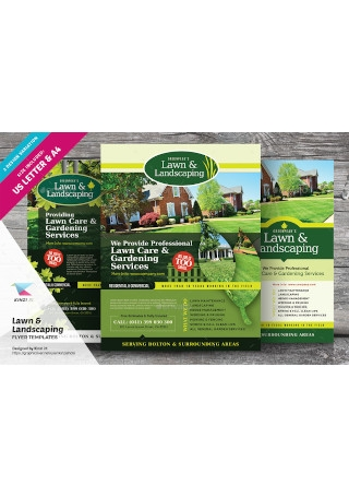 Lawn Landscaping Flyer Templates