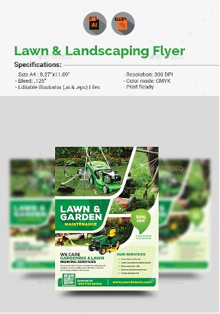 Lawn Landscaping Flyer