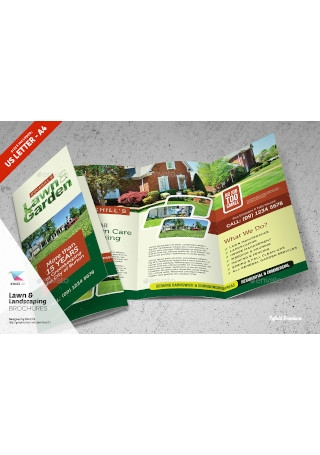 Lawn Landscaping Trifold and Bifold Brochure