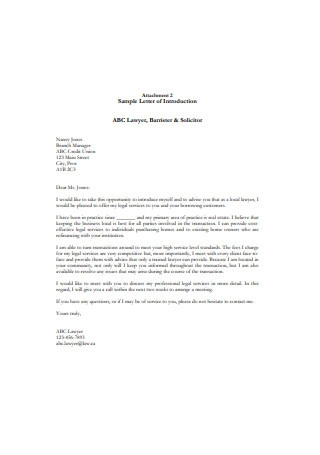 Legal Business Introduction Letter