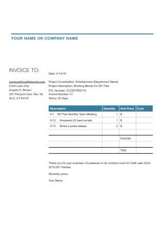 Letter Head Invoice