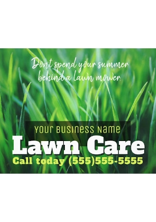 Marketing Flyer Lawn Care Business