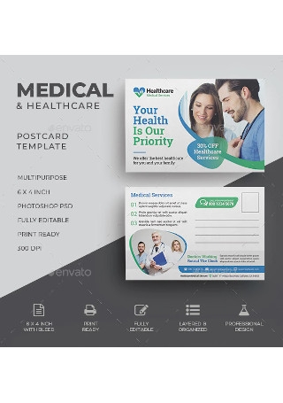Medical and Health Care Postcard