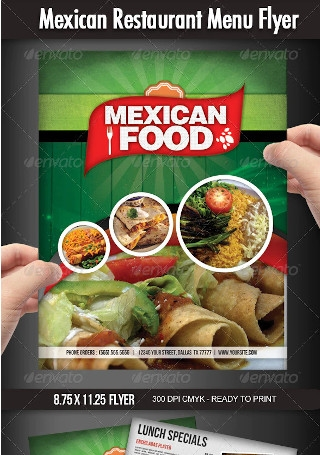 Mexican Restaurant Menu Flyer