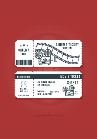 Modern Cinema Ticket InDesign