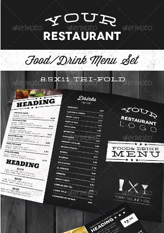Modern Restaurant Menu Set
