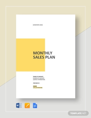 Monthly Sales Plan