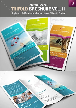 Multipurpose Trifold Brochures