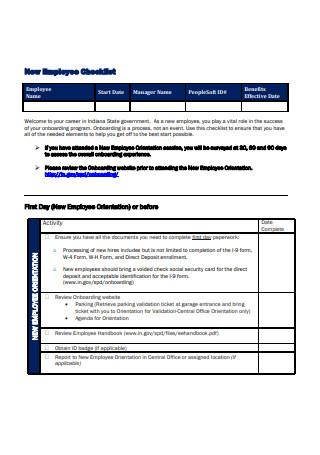 New Employee Checklist