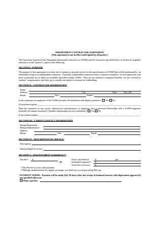 New Independent Contractor Agreement