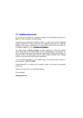 Official Business Introduction Letter