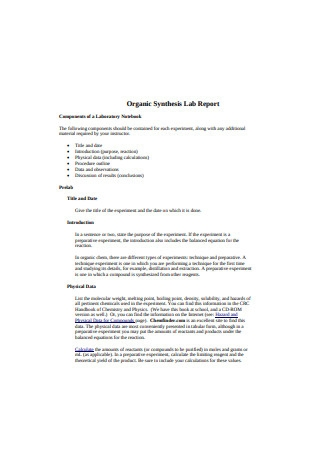 Organic Synthesis Lab Report