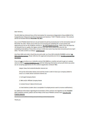 Partners Termination Letter