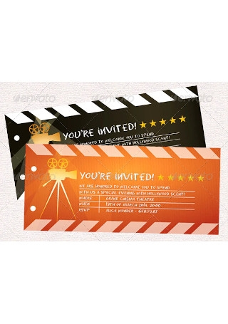 Party Invitation Movie Ticket