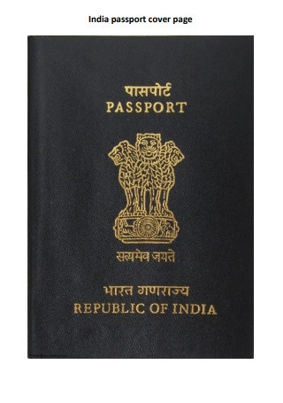 Passport Cover Page