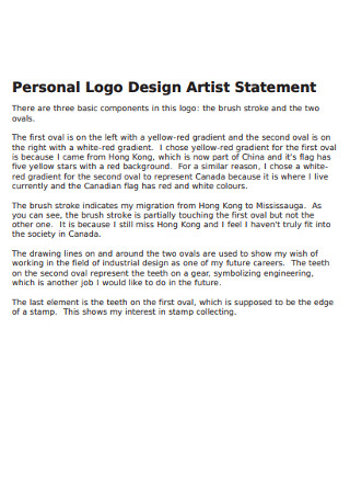 Personal Logo Design Artist Statement