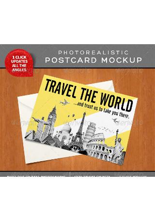 Photorealistic Postcard Mock Ups