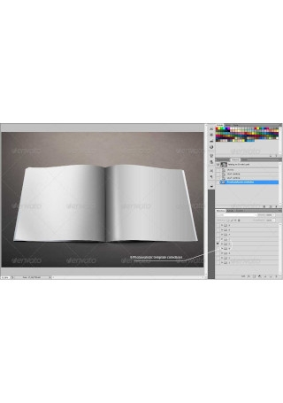 Photorealistic Square Brochure Mock up