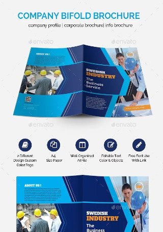 Professional Bifold Brochure Graphic