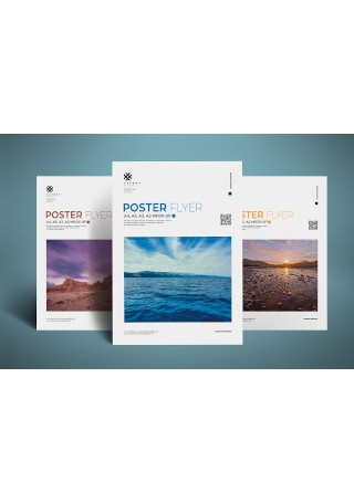 Realistic Poster and Flyer mockup