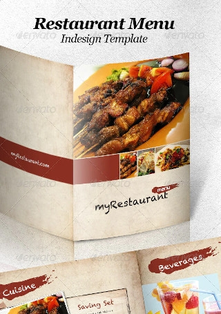 Restaurant Menu Indesign