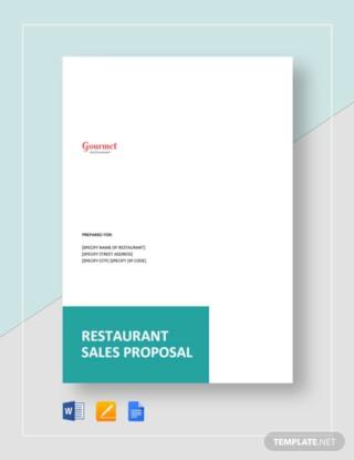 Restaurant Sales Proposal