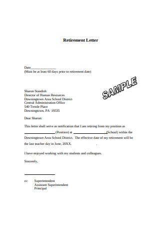 Retirement Letter
