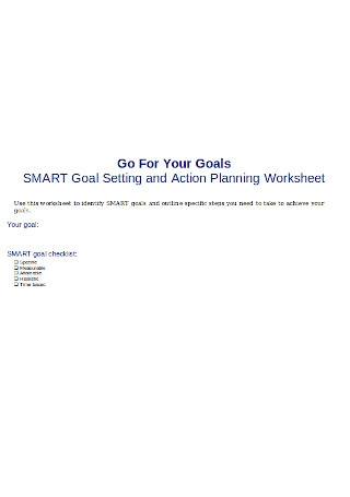SMART Goal Setting and Action Planning Worksheet