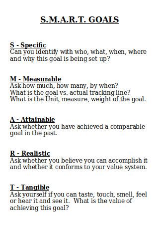 SMART Goal Template