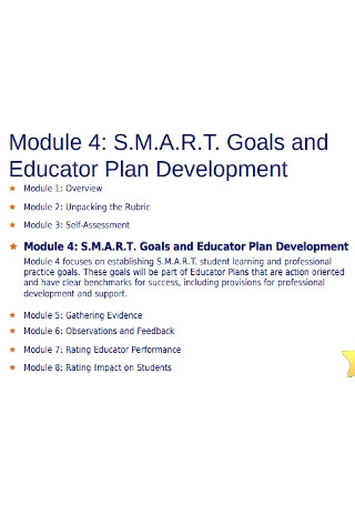SMART Goals Educator Development Plan