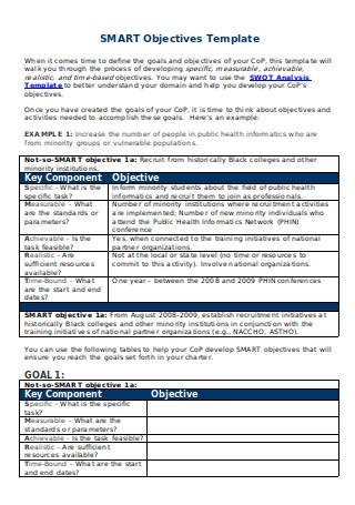 SMART Objectives Template