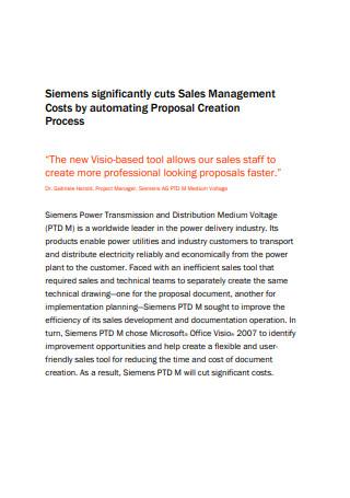Sales Management Proposal