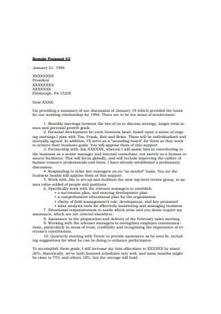 Sales Proposal Letter Sample