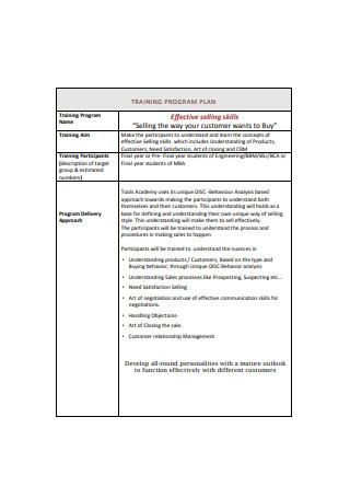 Sales Proposal Training