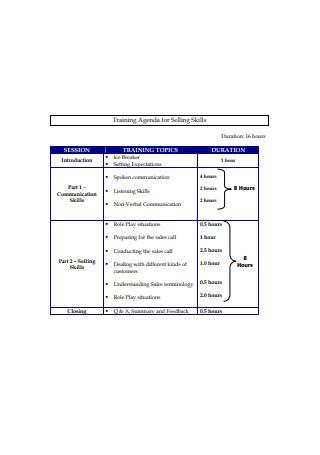 Sales Training Proposal Format