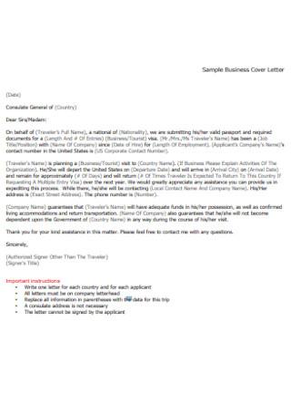 Sample Business Cover Letter