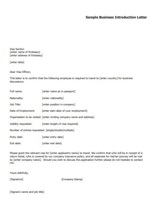 Sample Business Introduction Letter1
