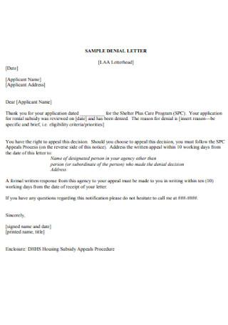 Sample Daniel Letter