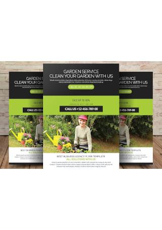 Sample Garden Services Flyer Template