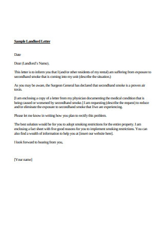 Sample Landlord Letter Format