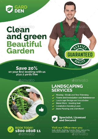 Sample Landscaping and Lawn Care Flyer