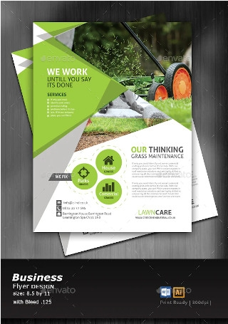 Sample Lawn Care Flyer
