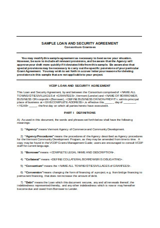 Sample Loan and Security Agreement